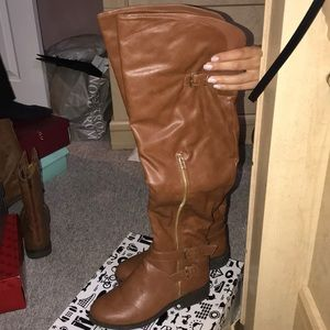 MAKE AN OFFER! Chestnut over the knee boots